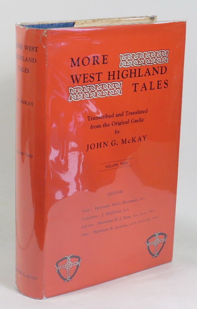 Image for More West Highland Tales - Volume Two - Transcribed and translated from the original Gaelic MSS. by John G. McKay