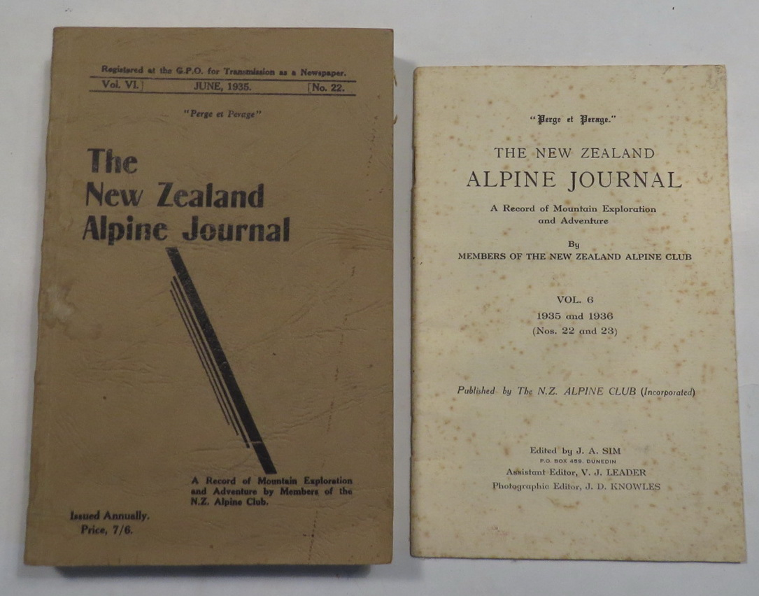 Image for The New Zealand Alpine Journal - June, 1935 - Vol. VI, No. 22. A Record of Mountain Exploration and Adventure By Members of the New Zealand Alpine Club