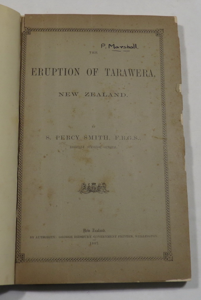 Image for The Eruption of Tarawera: A Report to the Surveyor-General