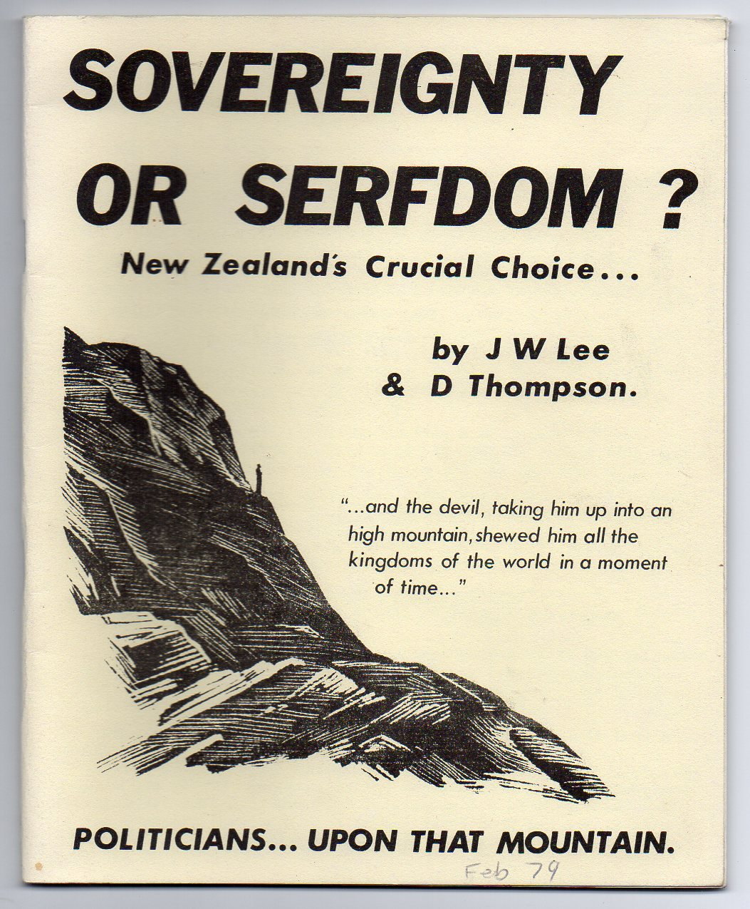 Image for Sovereignty or Serfdom? New Zealand's Crucial Choice