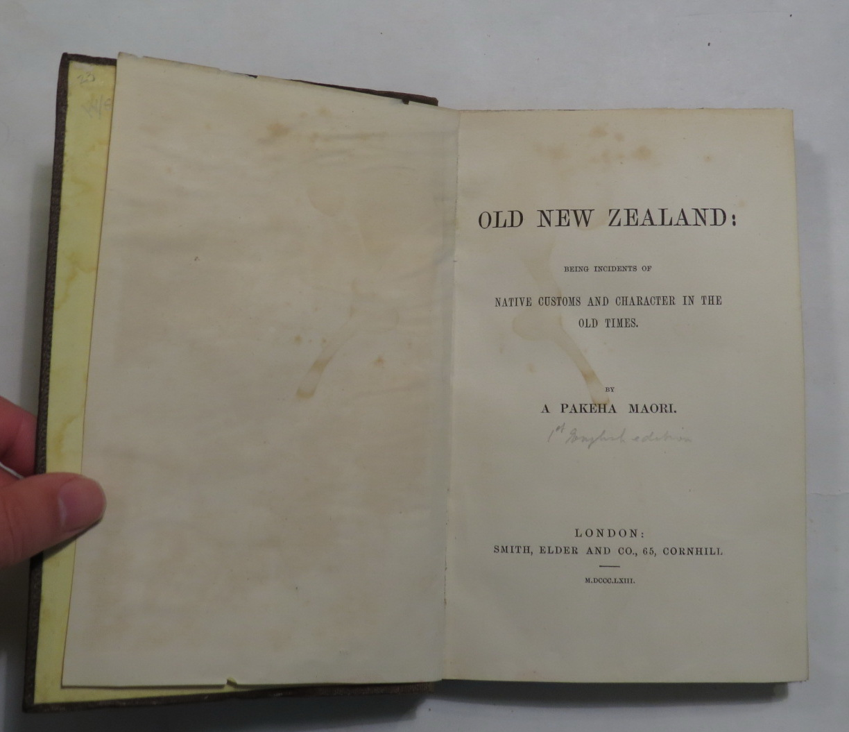 Image for Old New Zealand: Being Incidents of Native Customs and Character in the Old Times
