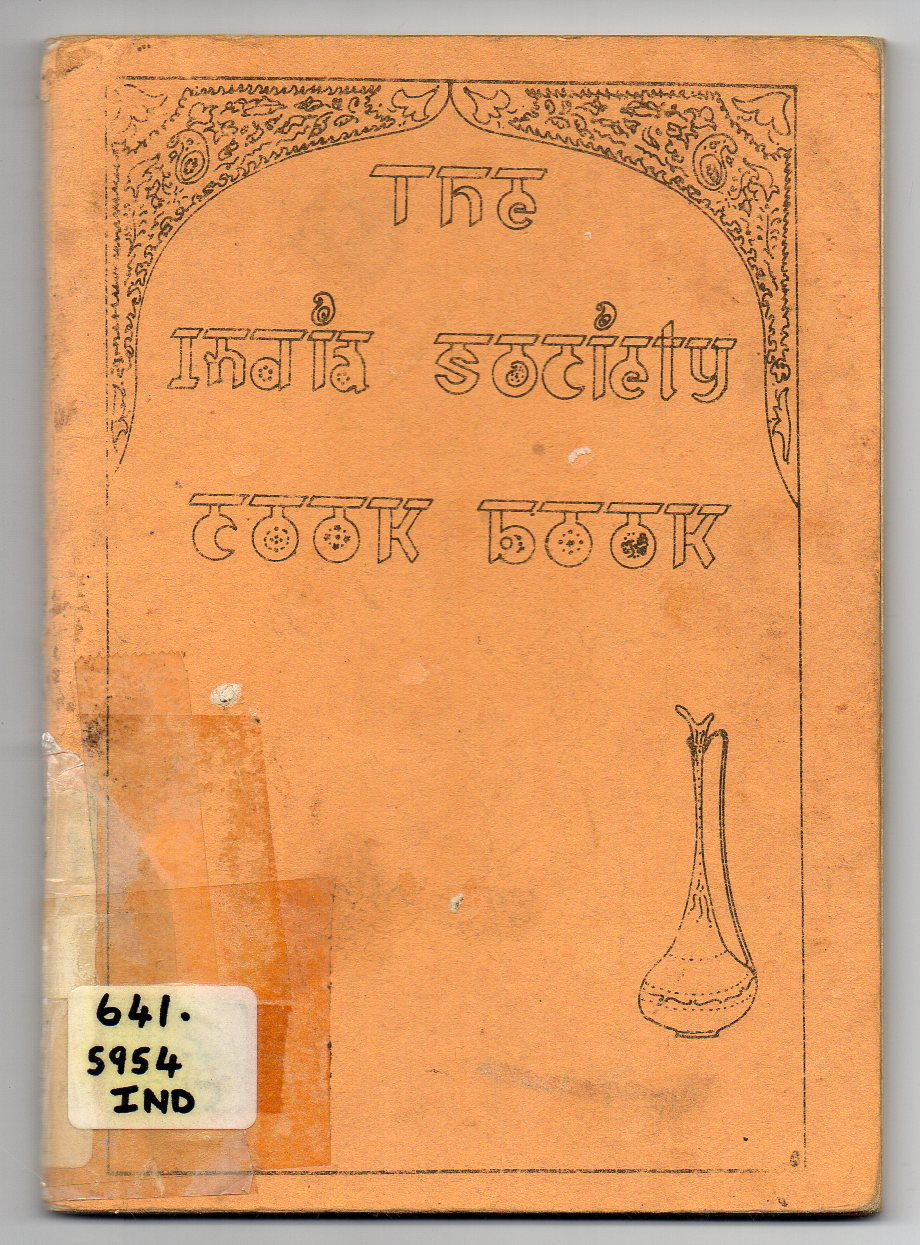 Image for The India Society Cook Book