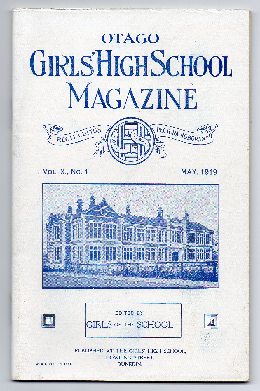 Image for Otago Girls' High School Magazine. Vol. X. No. 1. May, 1916