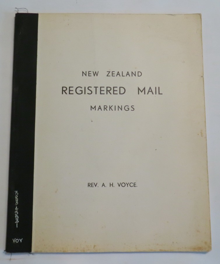 Image for New Zealand Registered Mail Markings
