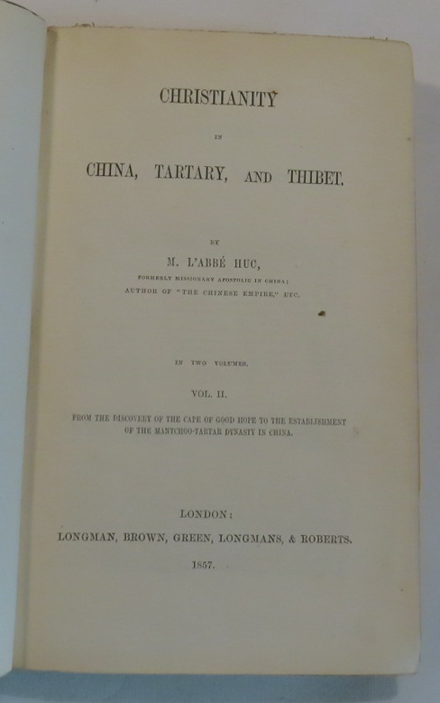Image for Christianity in China, Tartary, and Thibet [Volume Two only]