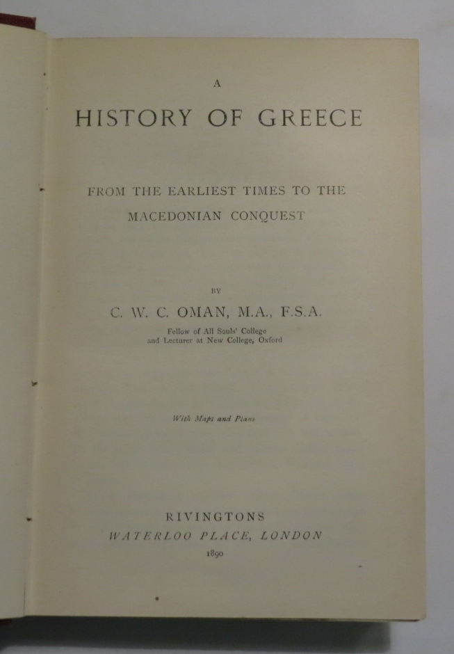 Image for A History of Greece - From the Earliest Times to the Macedonian Conquest