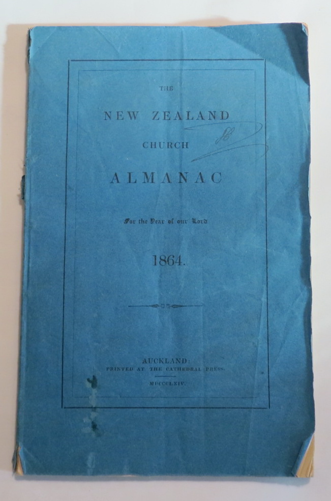 Image for The New Zealand Church Almanac for the Year of Our Lord 1864