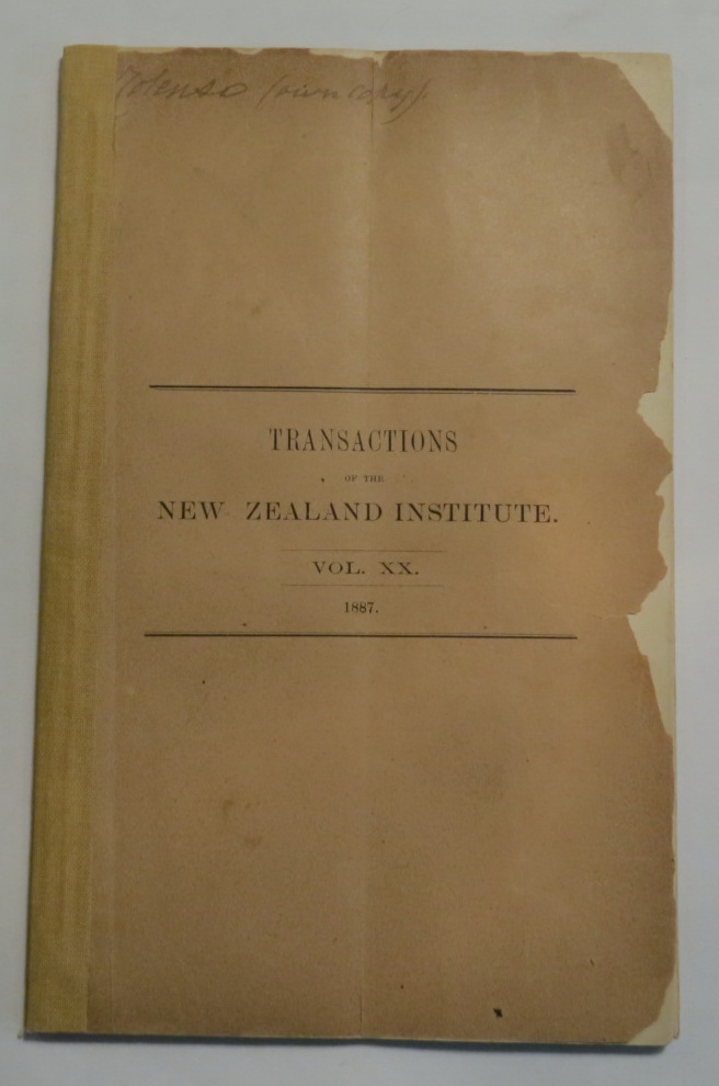Image for [3 offprints by Colenso from Transactions of the New Zealand Institute, 1887]