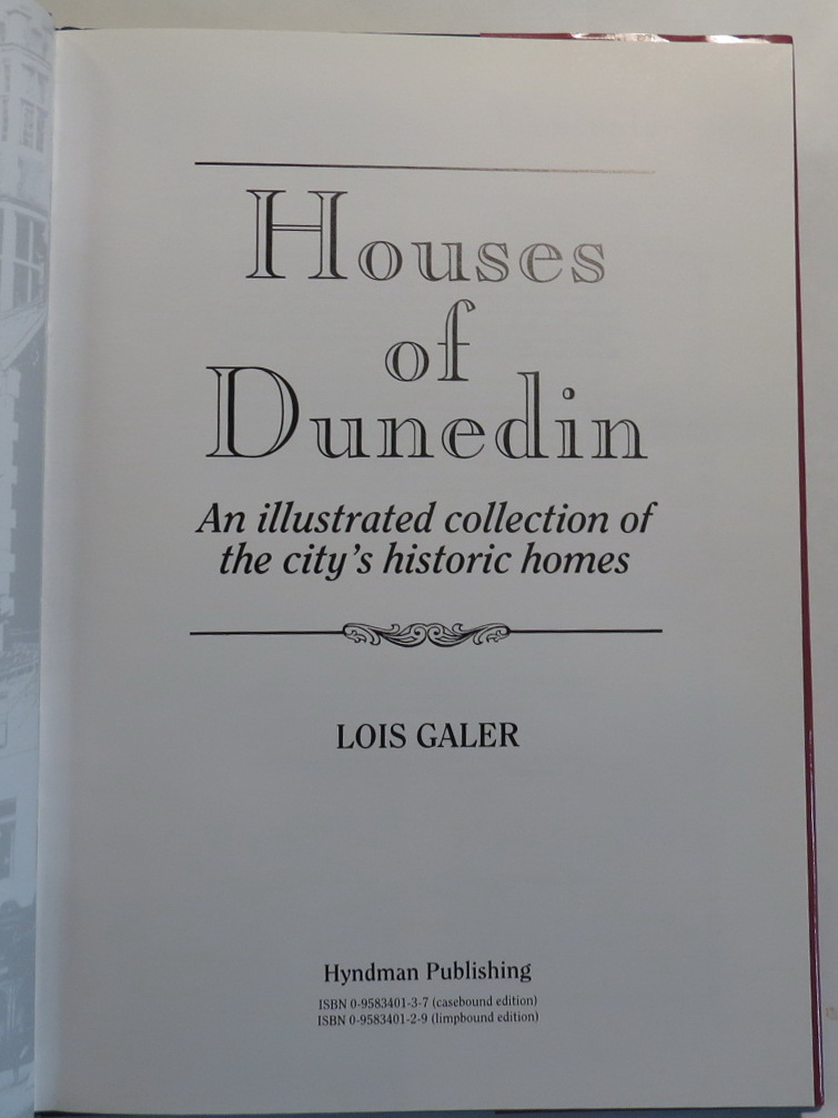 Image for Houses of Dunedin - An Illustrated Collection of the City's Historic Homes