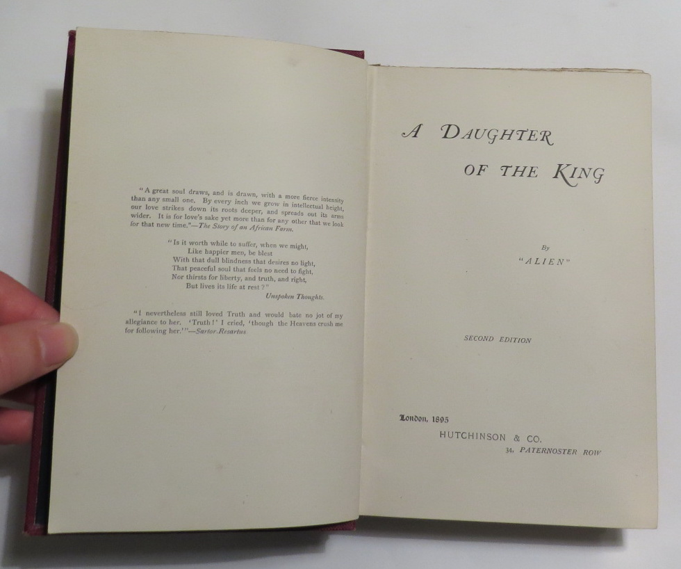 Image for A Daughter of the King