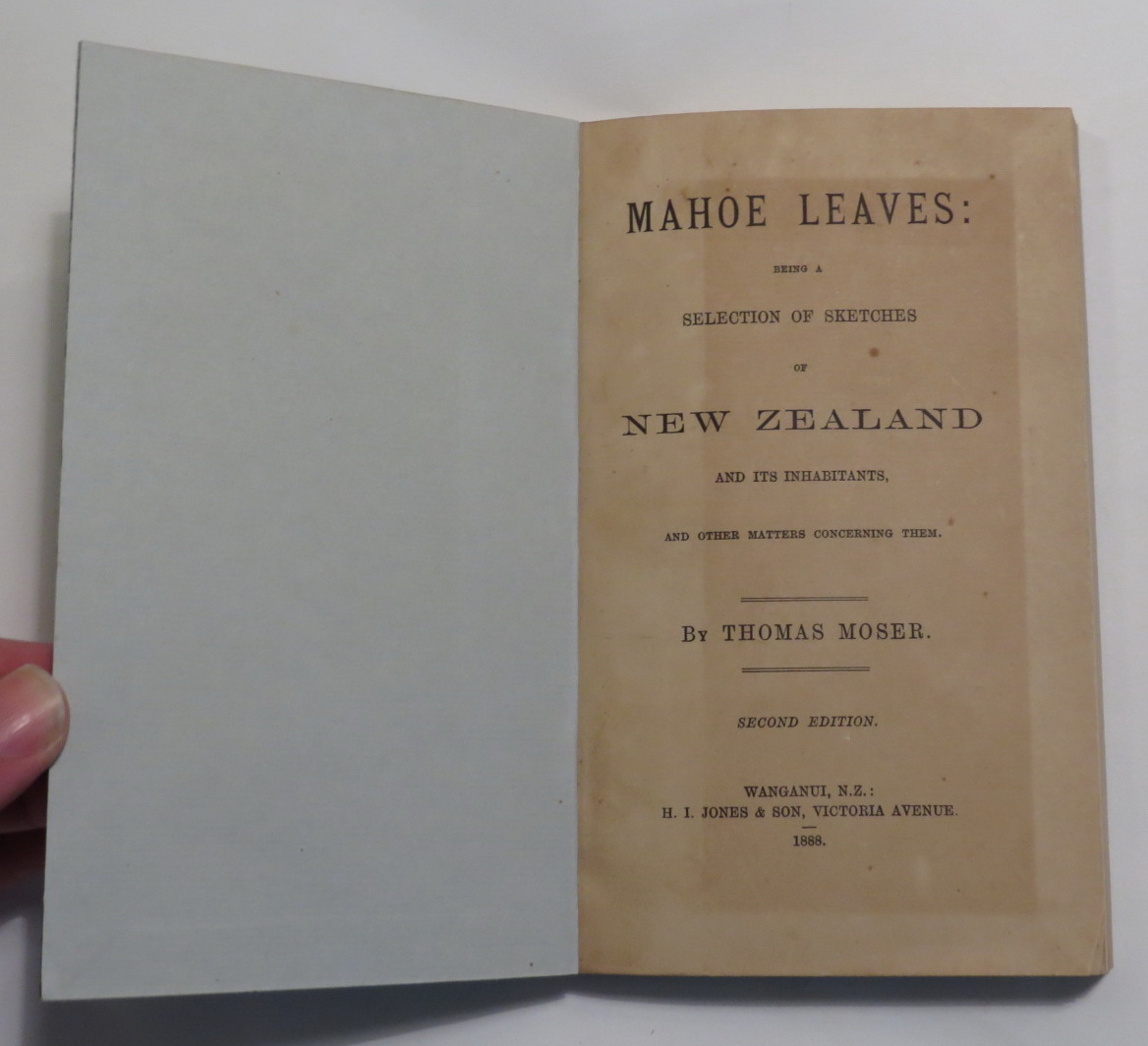 Image for Mahoe Leaves: Being a Selection of Sketches of New Zealand and Its Inhabitants, and Other Matters Concerning Them