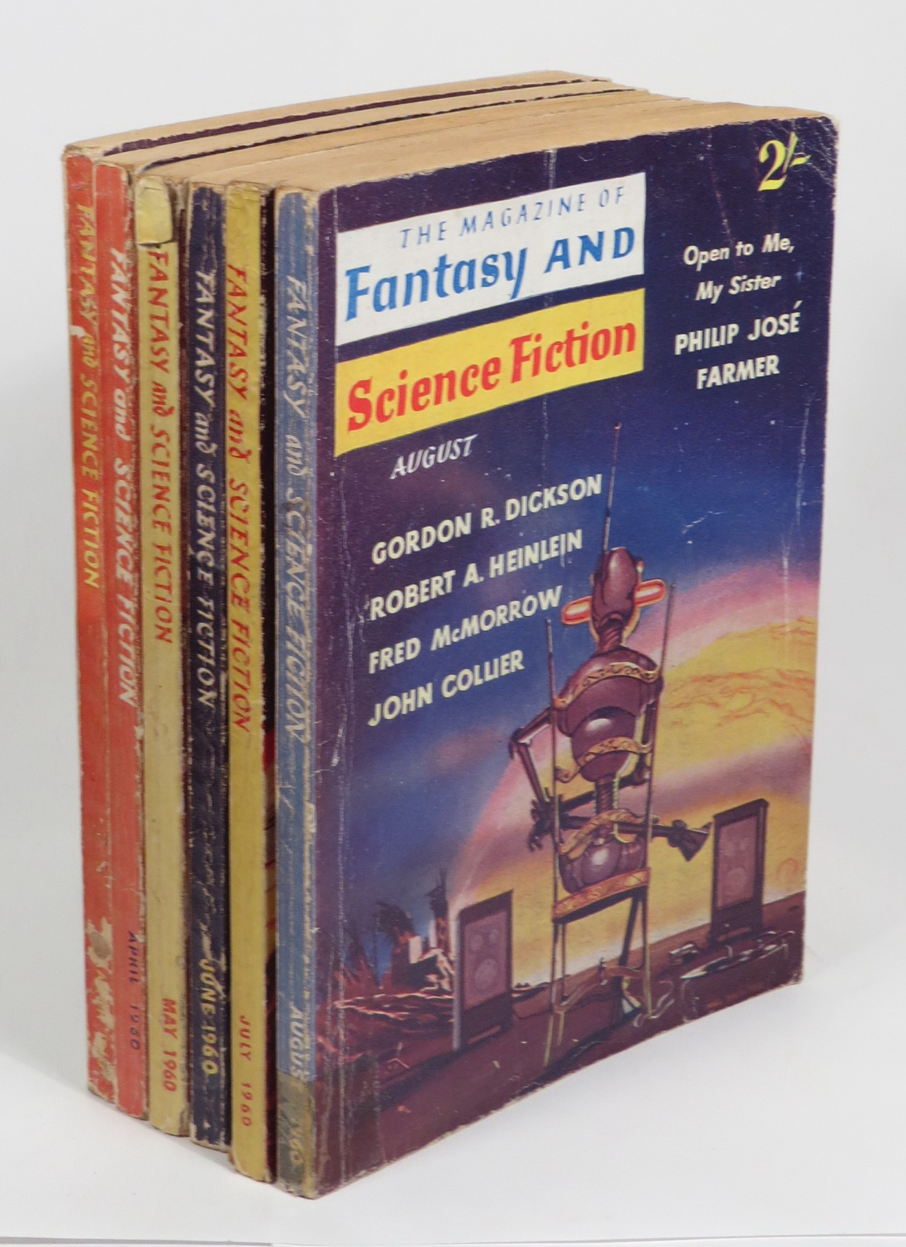 Image for The Magazine of Fantasy and Science Fiction [British edition. Vol. 1, Nos. 4, 5, 6, 7, 8, 9 (March, April, May, June, July, August 1960)
