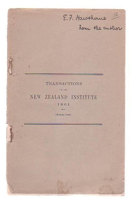 Image for Transactions of the New Zealand Institute 1901, Vol XXXIV. Article II. - On The Senses Of Insects