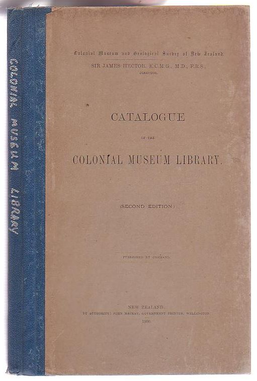 Image for Catalogue of the Colonial Museum Library