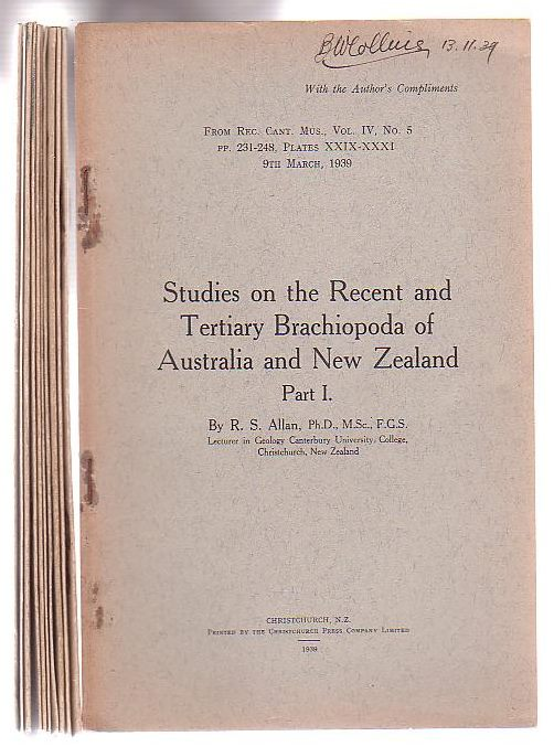 Image for Studies on the Recent and Tertiary Brachiopoda of Australian and New Zealand Part I. [+ 9 others]