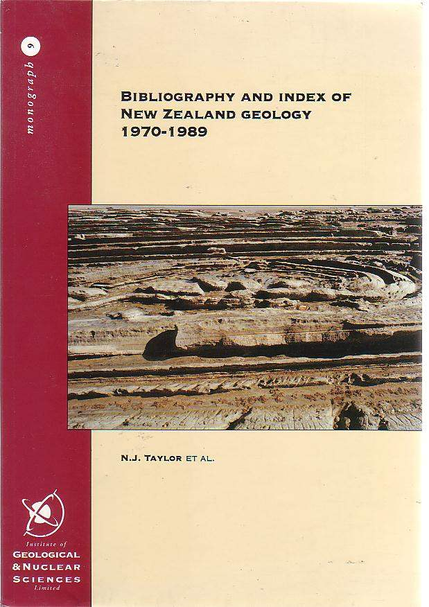 Image for Bibliography and Index of New Zealand Geology 1970-1989