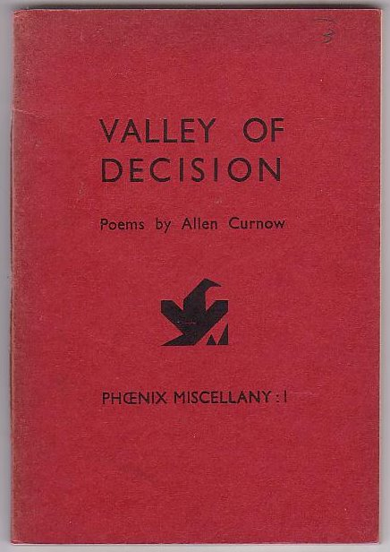 Image for Valley of Decision: Poems by Allen Curnow