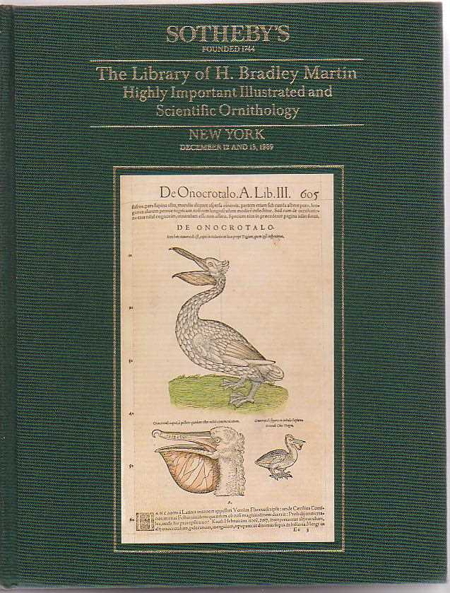Image for The Library of H. Bradley Martin [Part V] Highly Important Illustrated and Scientific Ornithology