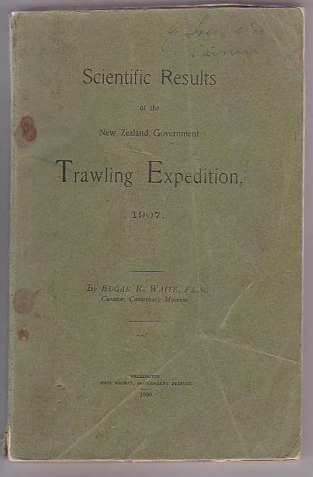 Image for Scientific Results of the New Zealand Government Trawling Expedition, 1907.