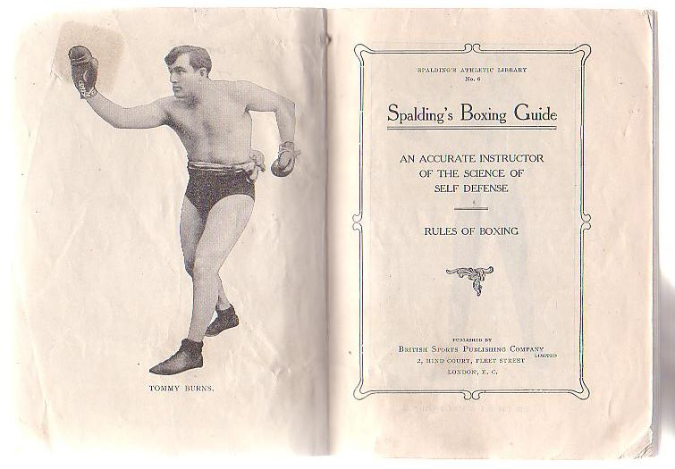 Image for Spalding's Boxing Guide: An Accurate Instructor of the Science of Self Defense. Rules of Boxing. Spalding's Athletic Library No. 6