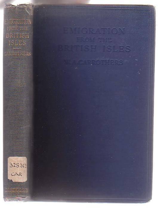 Image for Emigration from the British Isles: With Special Reference to the Development of the Overseas Dominions