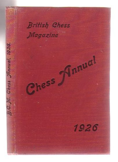"Image for The ""British Chess Magazine"" Chess Annual 1926."