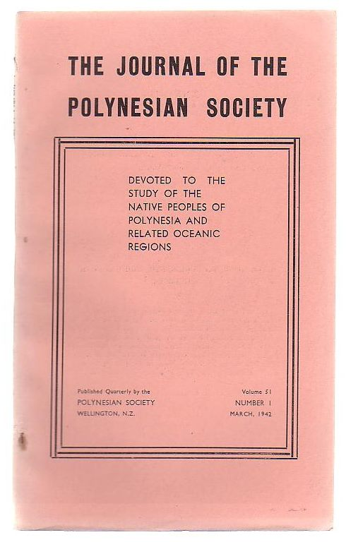 Image for The Journal Of The Polynesian Society Volume 51, Number 1