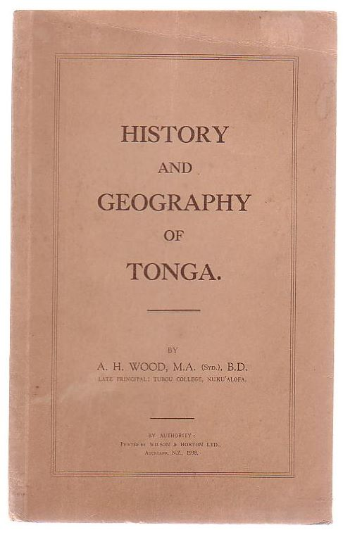 Image for A History And Geography Of Tonga