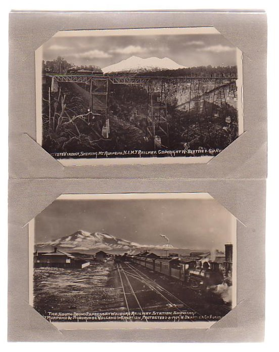 Image for Five New Zealand Railway Postcards + One Volcano Postcard