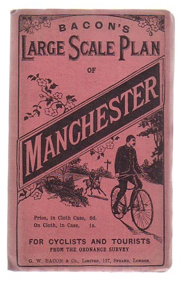 Image for Bacon's Cycling Road-Map Of England And Wales: Manchester