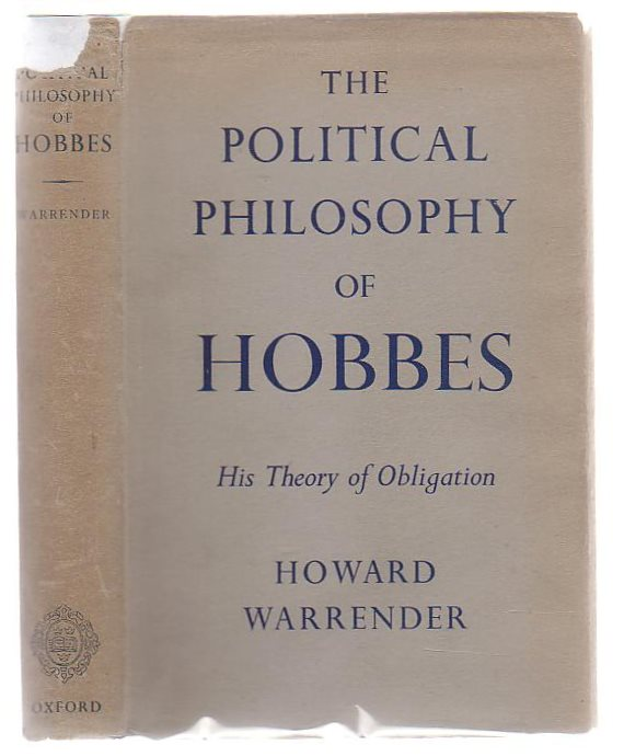 Image for The Political Philosophy Of Hobbes His Theory Of Obligation