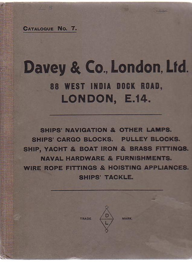 Image for Davey & Co., London, LTD. 88, West India Dock Road, London, E. 14. Catalogue No. 7