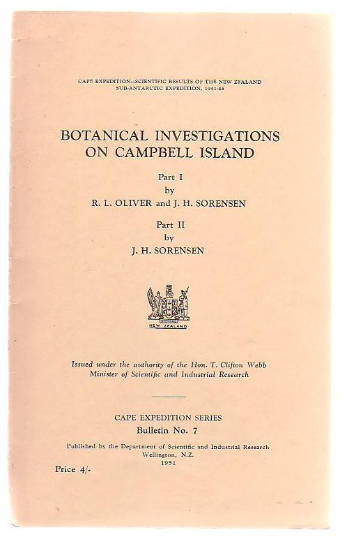 Image for Botanical Investigations On Campbell Island