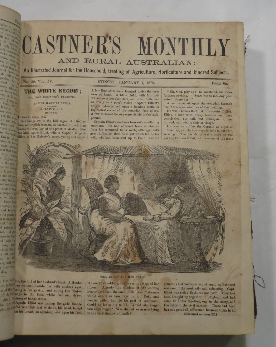 Image for Castner's Monthly And Rural Australia: An Illustrated Journal for the Household, treating of Agriculture, Horticulture and kindred Subjects 1879 - 1880 [23 of 24 monthly issues for 1879-1880, lacking March 1879]