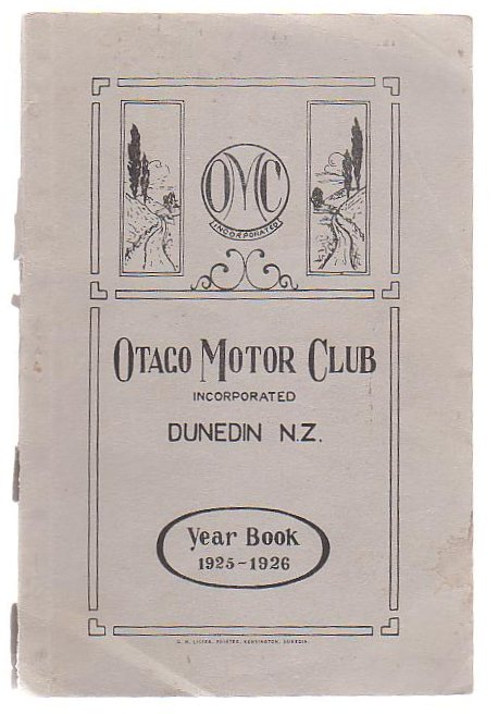 Image for Otago Motor Club Year Book 1925-26 Together With Annual Report & Balance Sheet For 1924-25