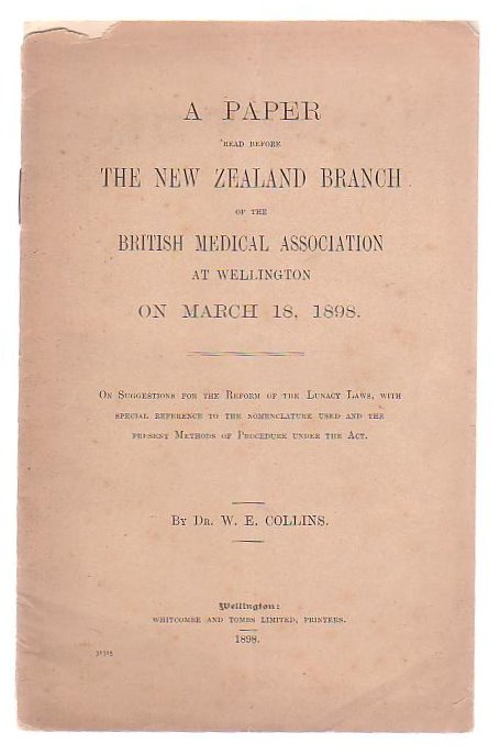 Image for A Paper Read Before The New Zealand Branch Of The British Medical Association On March 18, 1898