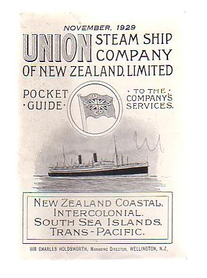 Image for Union Steam Ship Company Of New Zealand Limited Pocket Guide To The Company's Services (November, 1929)