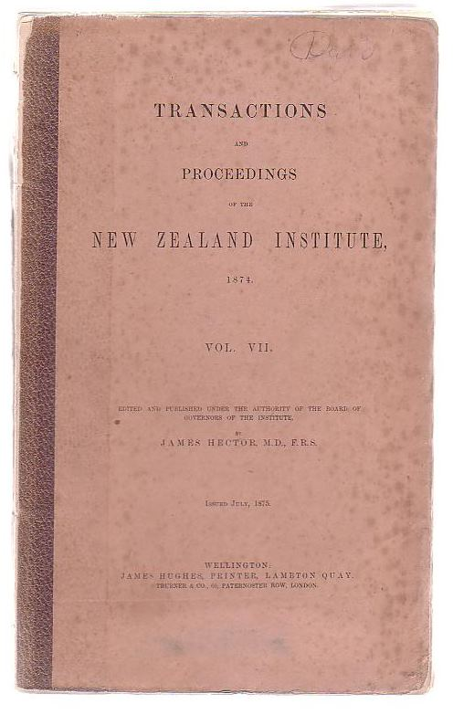 Image for Transactions And Proceedings Of The New Zealand Institute, 1874, Vol VII