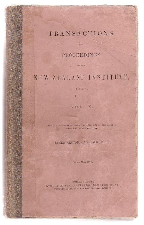 Image for Transactions And Proceedings Of The New Zealand Institute 1877. Vol X.