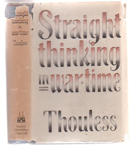 Image for Straight Thinking In War Time
