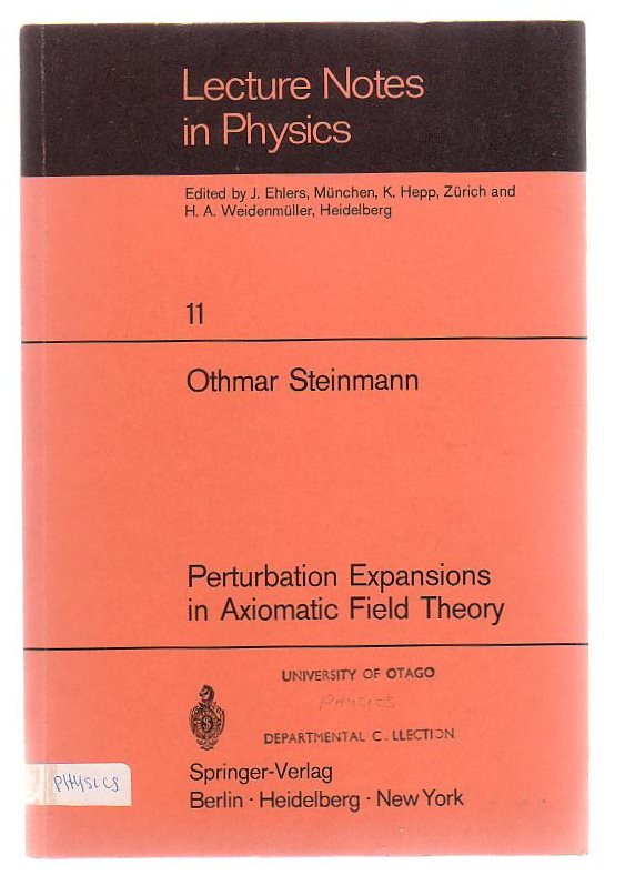 Image for Perturbation Expansions In Axiomatic Field Theory