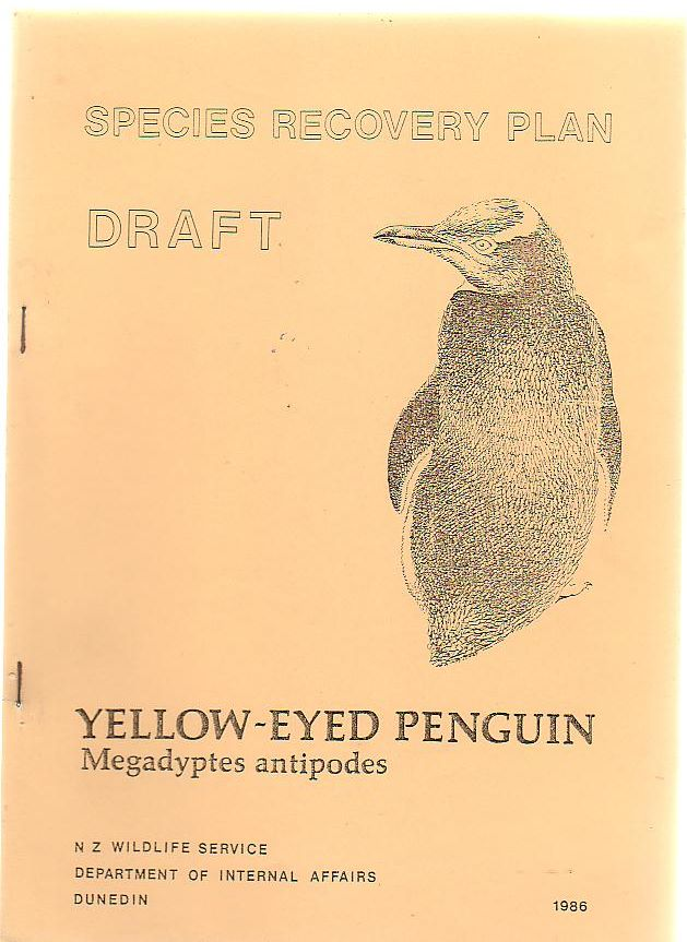 Image for Species Recovery Plan Draft Yellow-Eyed Penguin Megadyptes Antipodes