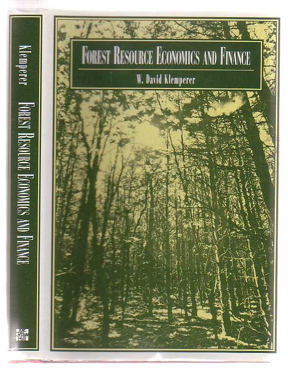 Image for Forest Resource Economics And Finance