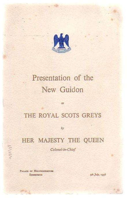 Image for Presentation Of The New Guidon To The Royal Scots Greys By Her Majesty The Queen