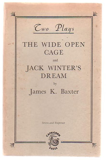 Image for Two Plays: The Wide Open Cage And Jack Winter's Dream
