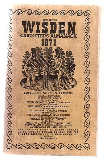 Image for Wisden Cricketers' Almanack 1971