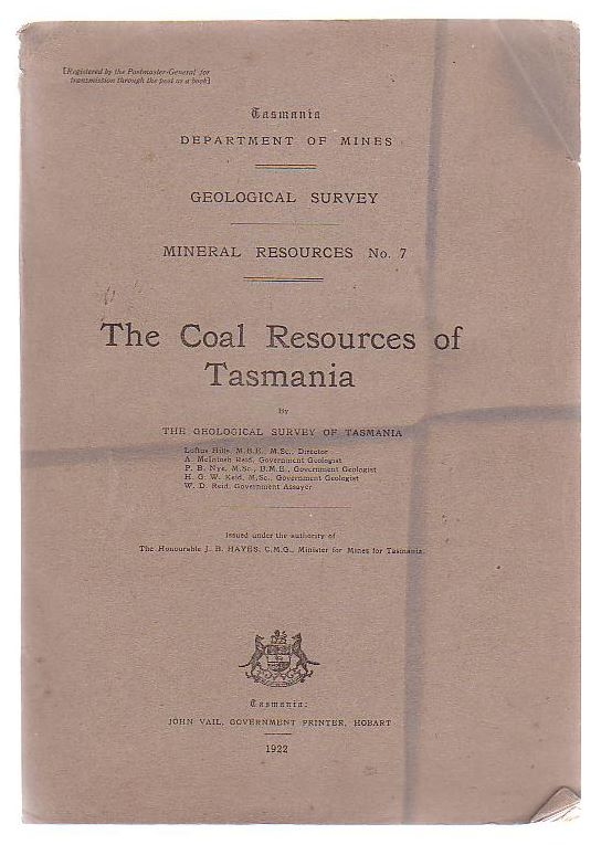 Image for The Coal Resources Of Tasmania