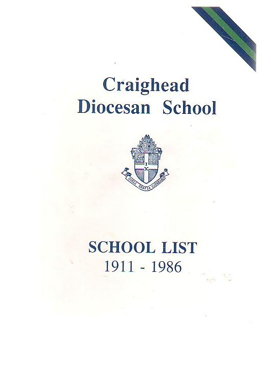 Image for Craighead Diocesan School School List 1911 - 1986