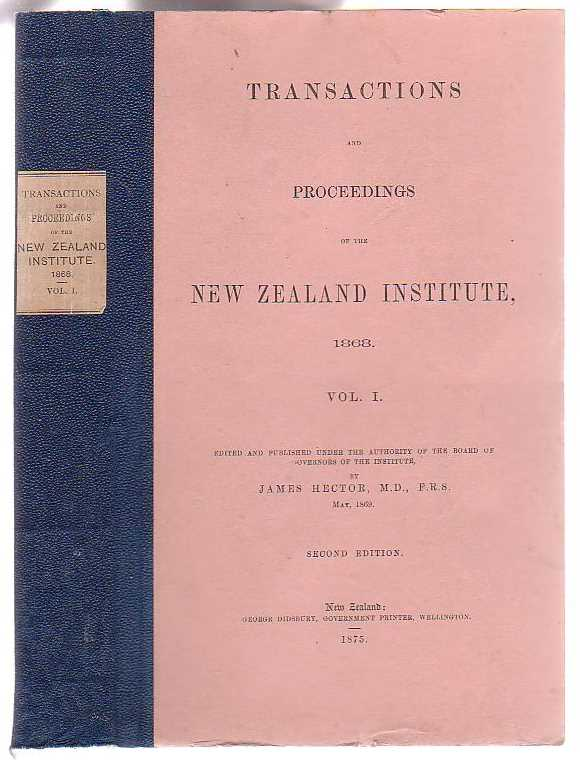 Image for Transactions And Proceedings Of The New Zealand Institute, 1868. Vol I.