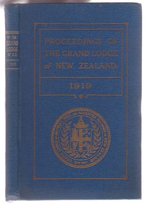 Image for Proceedings of Antient Free and Accepted Masons of New Zealand for the year 1918-19